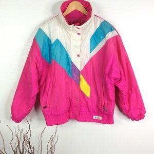 * VINTAGE 80's SLALOM Ski Jacket Coat
